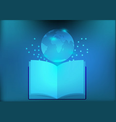 Abstract library electronic book for education vector