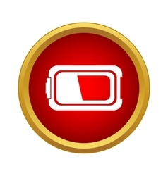 Battery icon in simple style vector image vector image