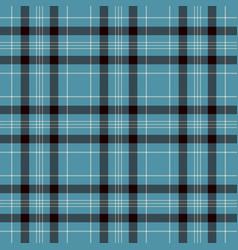 Black blue and white plaid tartan flannel shirt vector