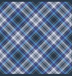 Blue check fabric texture diagonal seamless vector