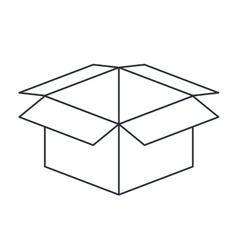 carton box isolated icon design vector image