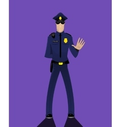 Cartoon doodle security policeman vector