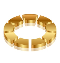gold cycle icon vector image