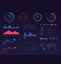 Intelligent technology hud interface vector