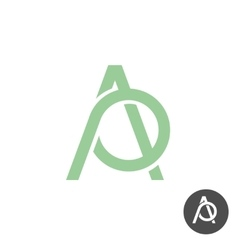 Letters A and P ligature logo vector image vector image