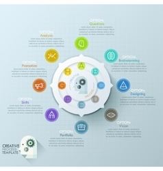 Modern infographics options banner with 8-options vector image vector image