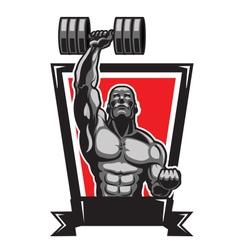 Muscular Body Builder vector image