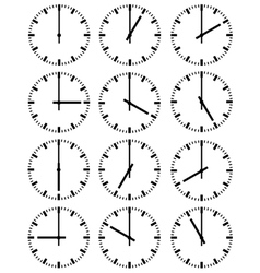 of clocks vector image vector image