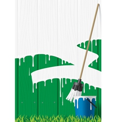 Painted fence vector