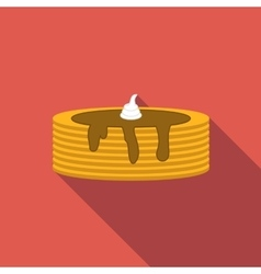 Pancake flat icon vector image vector image