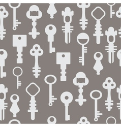 Pattern retro keys vector image
