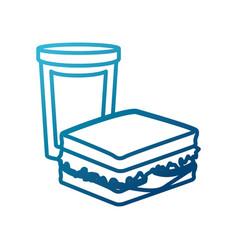 Sandwich with soda vector