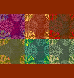 set of 6 seamless floral backgrounds vector image