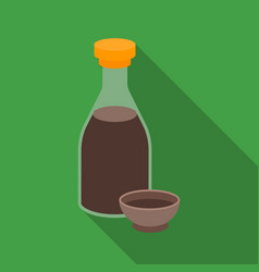 Soy sauce icon in flate style isolated on white vector