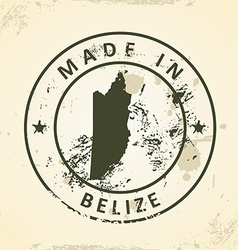 Stamp with map of Belize vector image vector image