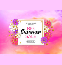 Summer sale banner background layout vector