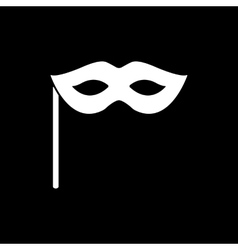 The festive mask icon vector
