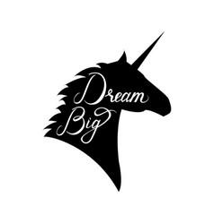 Unicorn head silhouette vector