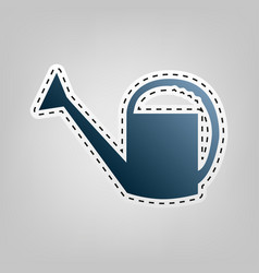Watering sign blue icon with outline for vector
