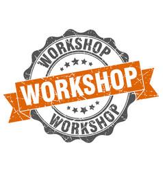 Workshop stamp sign seal vector