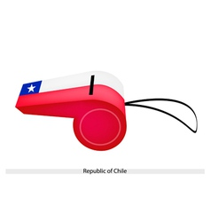 A beautiful whistle of republic of chile vector