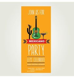 Invitation mexican partytypography vector