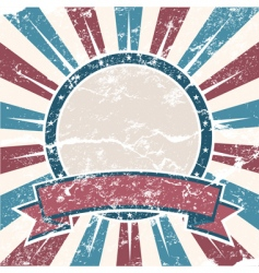 Old usa colors ring grunge vector