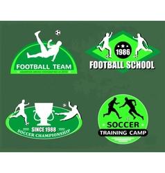 football logo set vector image