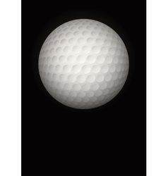 Dark background of golf ball vector