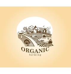 Organic farming design element vector