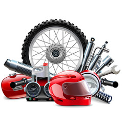 Motorcycle Spares Concept vector image