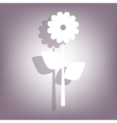 Flower icon with shadow vector