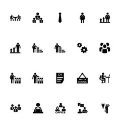Working human icons 5 vector