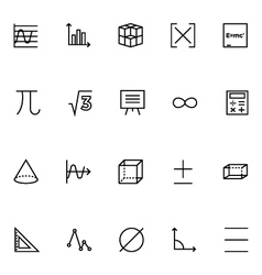 Mathematics icons 2 vector