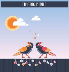 Singing birds vector