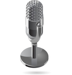 Isometric icon of microphone vector image