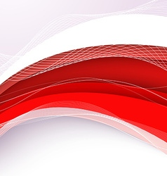 Abstract red background with wave vector