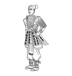 animation asian man to ancient clothes vector image