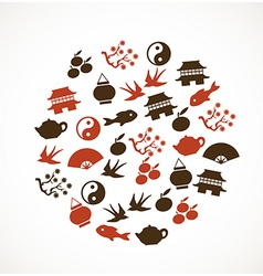 Asian symbols vector image vector image