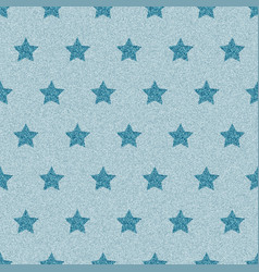 Blue denim starry jeans seamless pattern vector