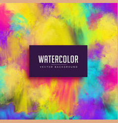 colorful watercolor stain abstract background vector image