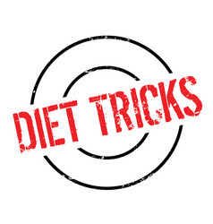 diet tricks rubber stamp vector image vector image