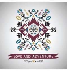 Element on native ethnic style vector