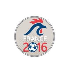 France 2016 football europe championships circle vector