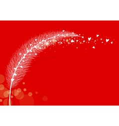 Grass flower on white background vector image vector image