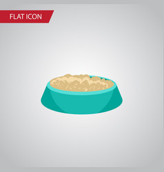 isolated nutrient flat icon feeding vector image vector image