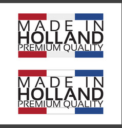 made in holland icon premium quality sticker vector image vector image