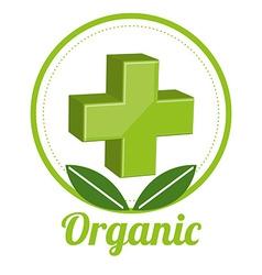 medicine organic design vector image