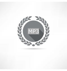 mp3 icon vector image vector image