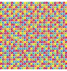Multicolor mosaic of triangles vector image vector image